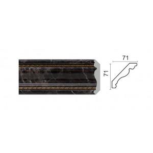 172-11 Карниз потолочный широкий (71x71x2400 мм) 14