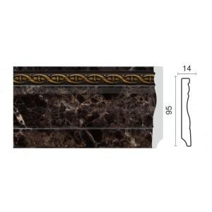 153-11 Плинтус напольный широкий с каб. каналом (95x15x2400 мм) 18