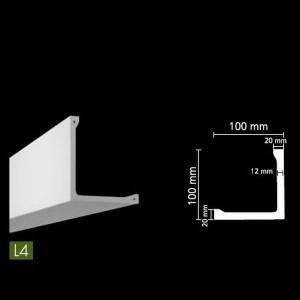Гладкий потолочный профиль для скрытого освещения. L4
