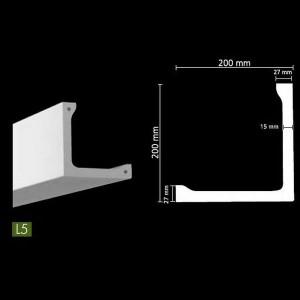 Гладкий потолочный профиль для скрытого освещения. L5
