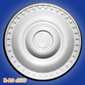 Розетка потолочная из полистирола R20