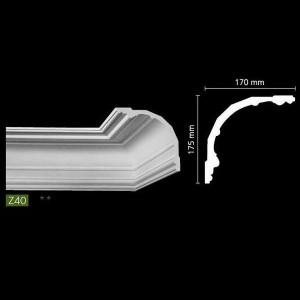 Гладкий потолочный профиль Z40