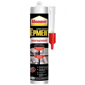 Клей-герметик Многоцелевой Момент ГЕРМЕНТ белый, 280 мл